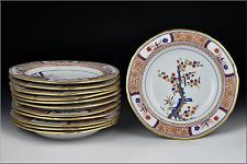 Rare Set of twelve Early 19th Century Spode China Pattern 282 Plates