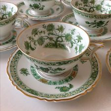 Early 1900s Haviland French Limoges Teacups and Saucers - Set of 8