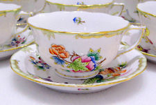 HHEREND QUEEN VICTORIA LARGE TEA CUPS AND SAUCERS,12PCS.BRAND NEW BOXED,733VBO
