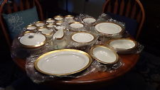Wedgwood Ascot Gold Trim Fine China Service for 10