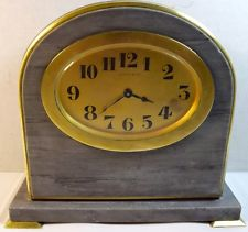 Fine Vintage 13 Jewels Wind Up Tiffany amp; Co. Brass and Marble Art Deco Clock
