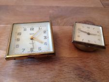 Vintage Travel Alarm Clocks For Repair Or Parts Junghans, Smiths Winds And Ticks
