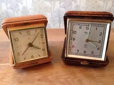 Vintage Travel Alarm Clocks Germany For Repair  Blessing, Delta Winds And Ticks
