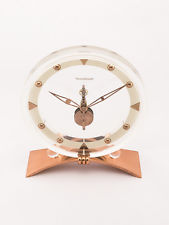 Rare Jaeger-LeCoultre table clock with 8 day inline movement ,art deco, 1940s