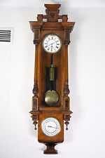RARE ANTIQUE 1 WEIGHT DRIVEN VIENNA WALL CLOCK WITH CALENDARS