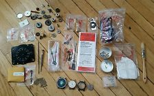 Vintage Swiss Made Watches And Clock Parts Tools Hands Repair