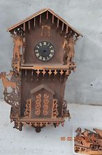 ANTIQUE CUCKOO CLOCK CABINET ONLY  RARE for parts or project