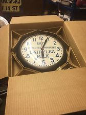 Three NOS Vintage 1950s General Electric Commercial Wall Clocks Brown Plastic GE