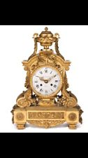 Antique French Louis XVI Style Bronze Mantel Clock by Alred-Emmanuel  Beurdeley