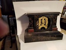 Antique Ansonia all Metal Mantel Clock,,,Case with Ansonia movement only