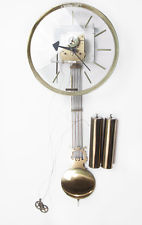 Howard Miller Large Clear Face Pendulum Wall Clock George Nelson Mid Century Mod