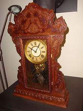 Antique WelchSessions Gingerbread Clock Running Striking well
