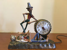 RARE ANTIQUE SESSIONS HILLBILLY NOVELTY CLOCK THAT WORKS WITH ORIGINAL PAINT !!