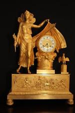 ANTIQUE FRENCH EMPIRE TABLE CLOCKPENDULUM- FREE WORLWIDE SHIPPING