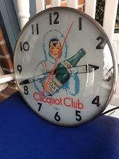 VINTAGE 50S CLICQUOT CLUB LIGHTED TELECHRON CLOCK  GINGER ALE - PALE DRY
