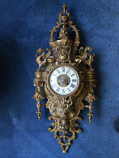 Antique French Vincenti amp; Cie Gothic Style Wall Clock